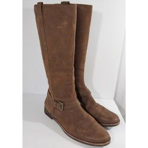 Cole Haan Nike Air Petra Brown Riding Boots